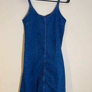 Blue Denim Dress Perfect for Layering